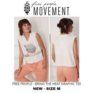 NWT FREE PEOPLE MOVEMENT BRING THE HEAT TEE SZ M